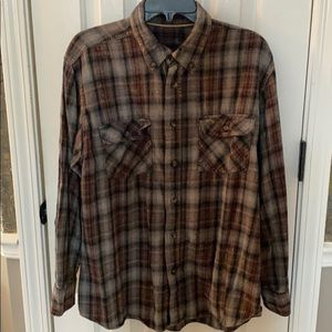 Urban Outfitters UO Urban Renewal Flannel Shirt